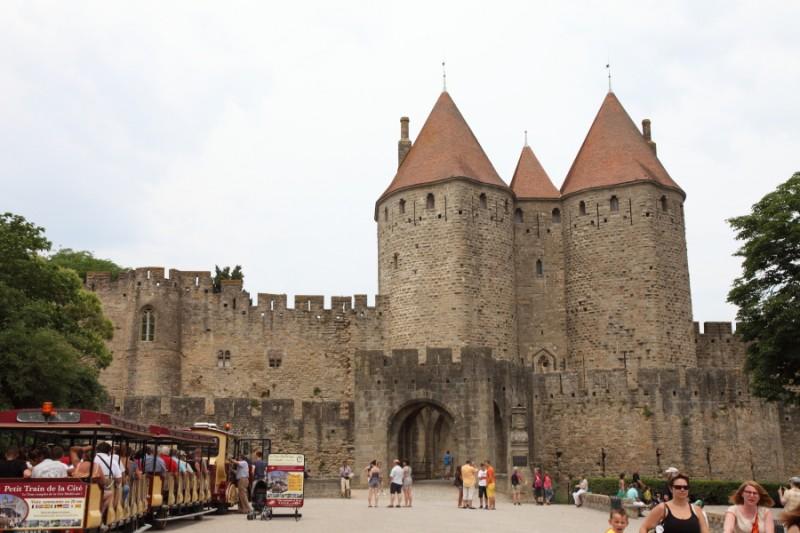 L'entrée de la cité médiévale de Carcassonne